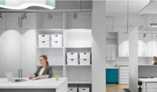 Modern white office space