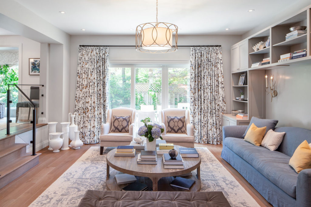 A bright living room designed by Maia Roffey.