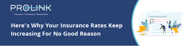 "Graphic that reads: ""Here's why your insurance rates keep increasing for no good reason'"