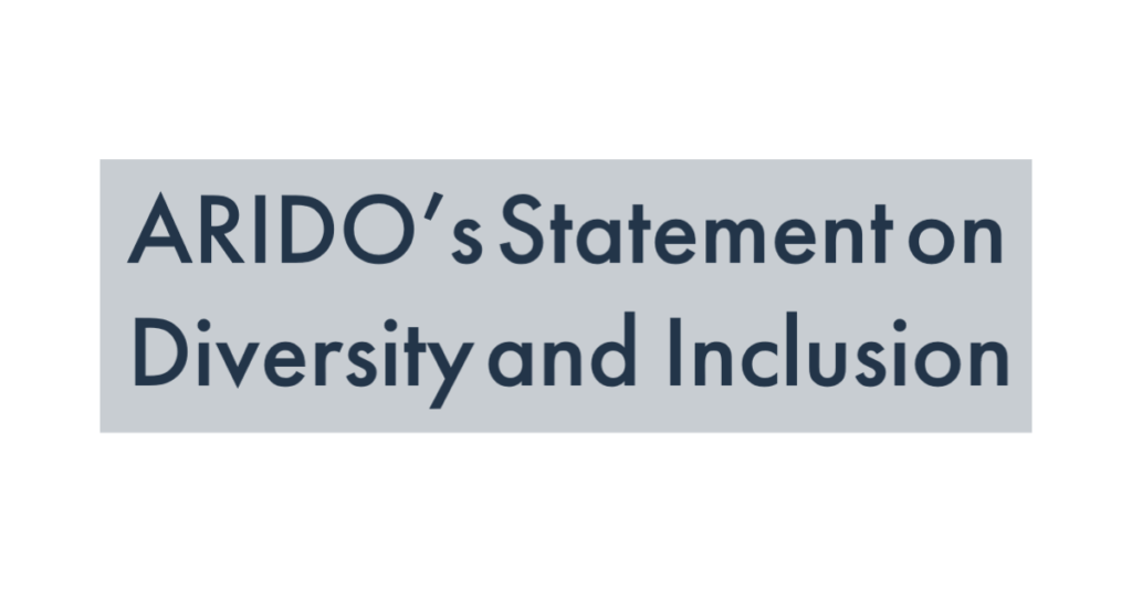 ARIDO's Statement on Inclusion and Diversity