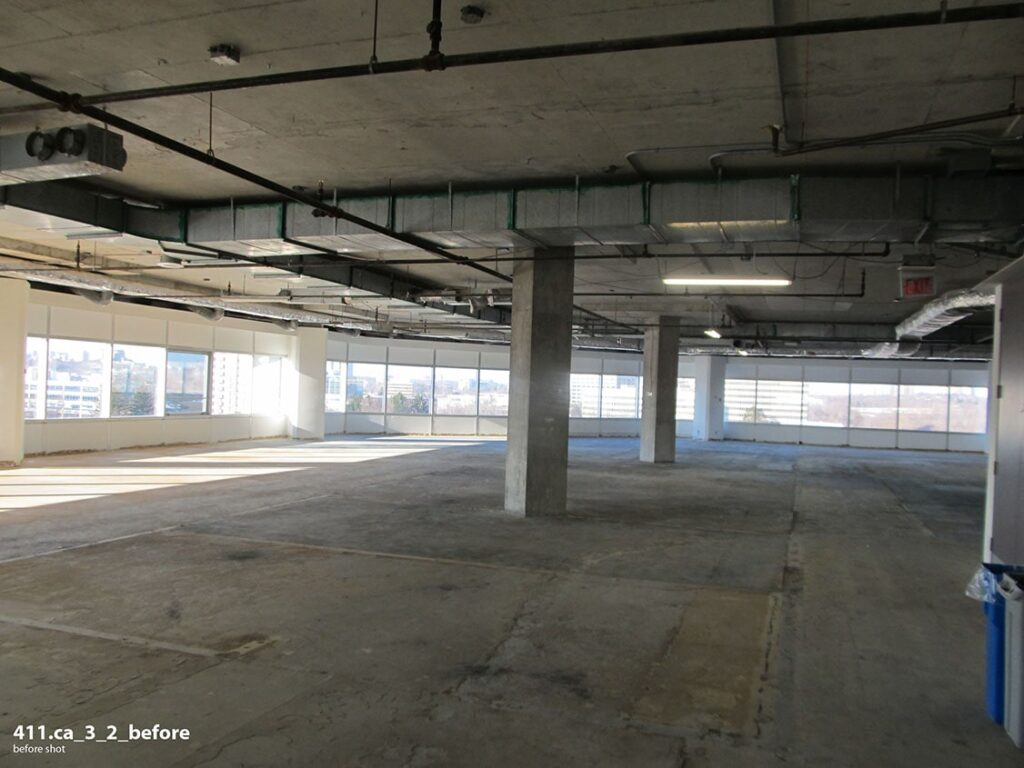Before image of raw 411 offices.