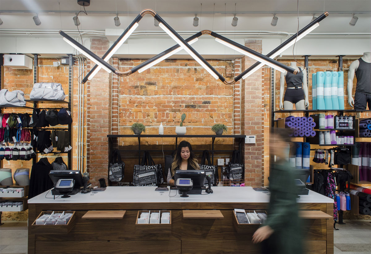 Lululemon's Queen Street location ensures top notch customer service isn't a stretch