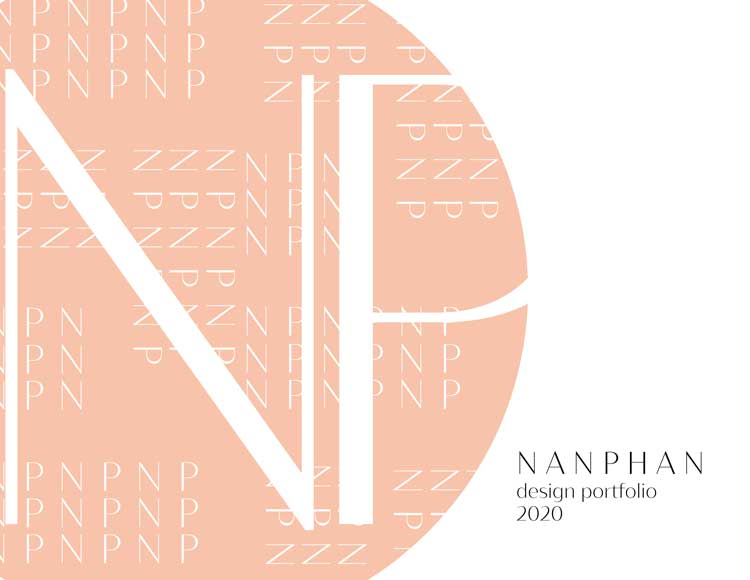 Coverpage of a design portfolio by Nancy Phan