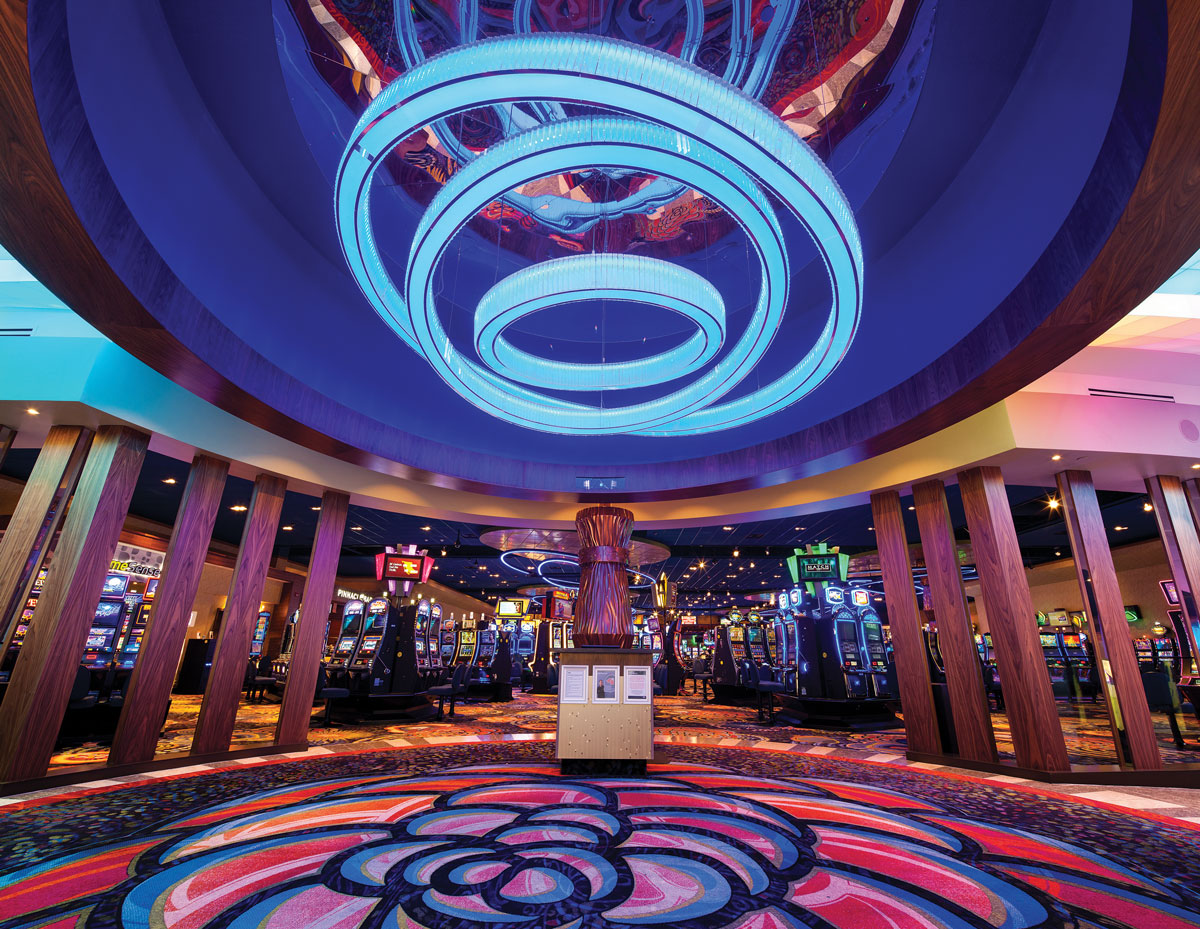 Light, colour, and nature's splendour inspire the design of this Kamloops casino