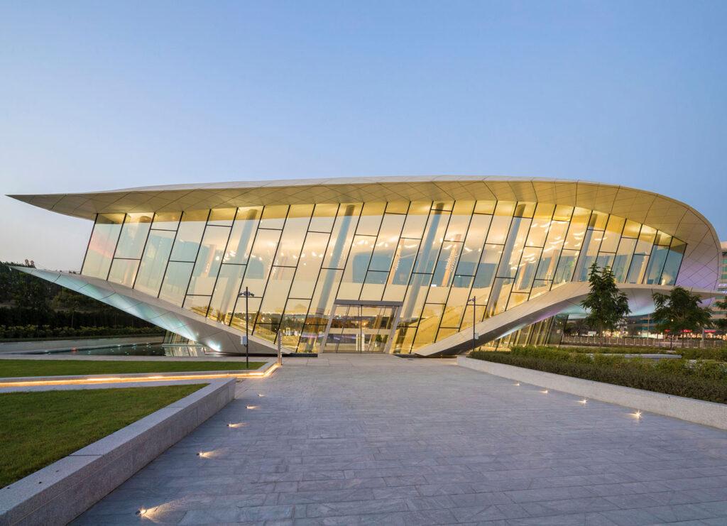 Exterior view of Etihad Museum, UAE.