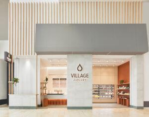 Village markets serve as inspiration for this modern juice shop