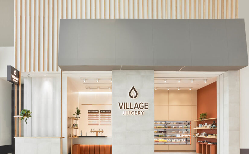 Village markets serve as inspiration for this modern juice shop