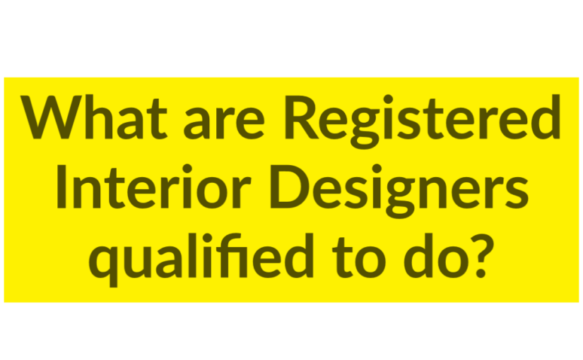What are Registered Interior Designers qualified to do?
