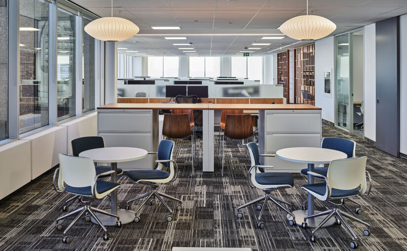 Fresh, clean, and modern design dictates this updated real estate office