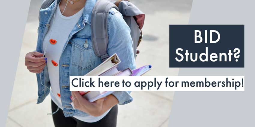 BID Student? Click here to apply for membership!