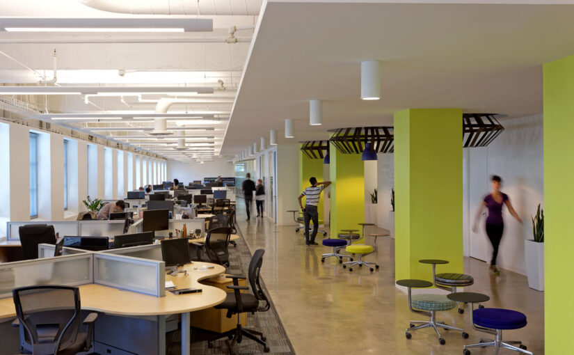 This office is a beehive of activity without all the bee clichés
