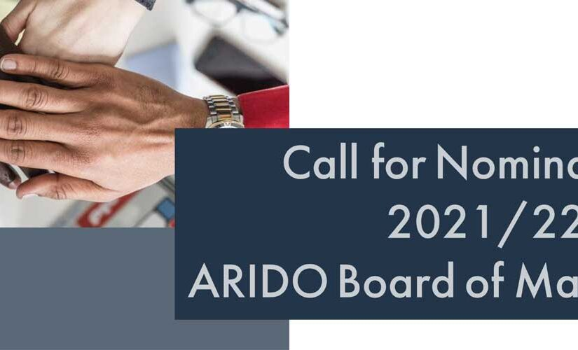 Call for Nominations 2021/22 ARIDO Board of Management