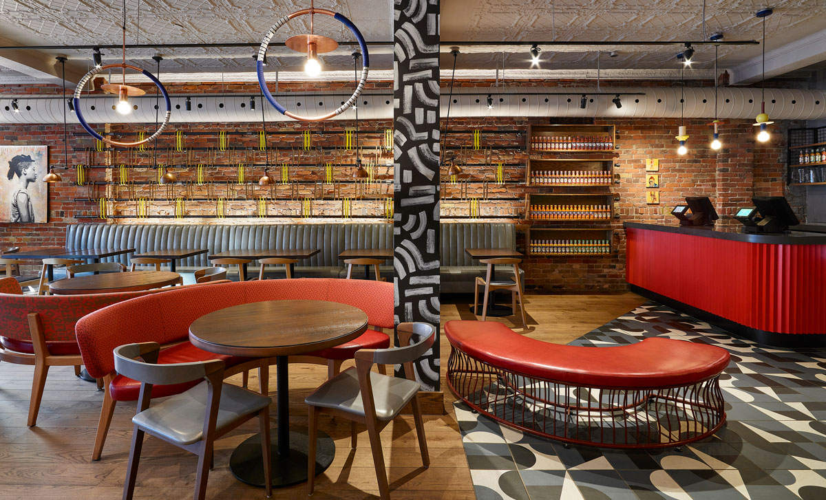 The vibrancy of South African visual culture informs this Nando's location