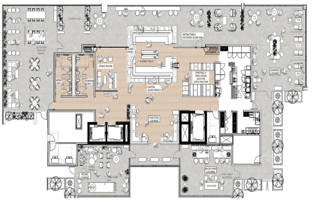 Floorplan of restaurant