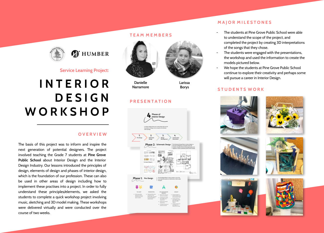 Humber College students become the educators with interior design service project