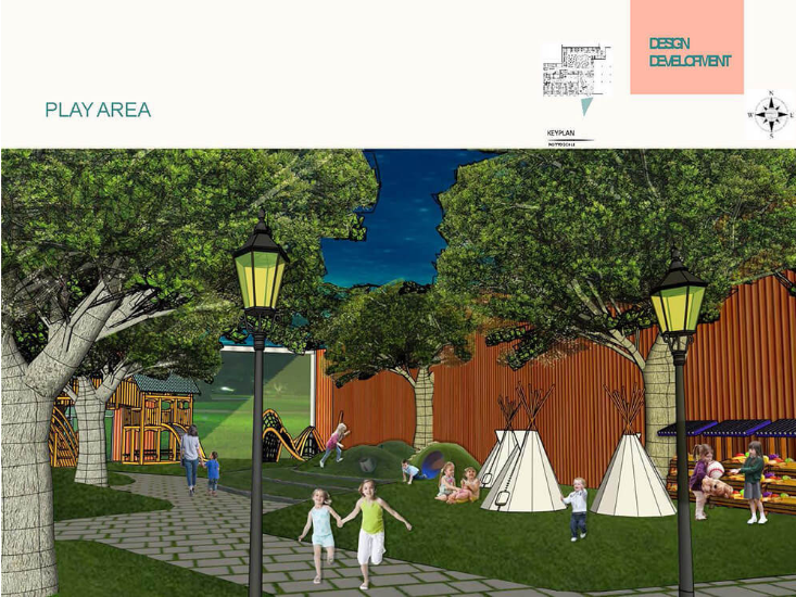 Rendering of child care space