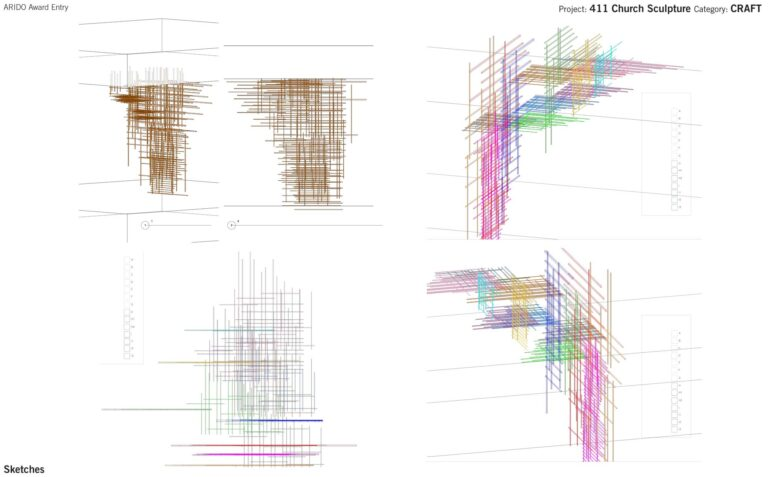Computer rendering of the bars of this geometric scuplture.