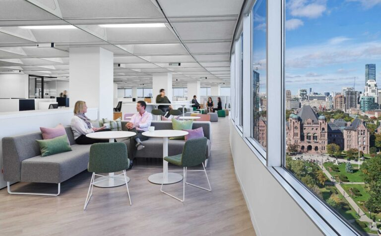 The office boasts views of Queen