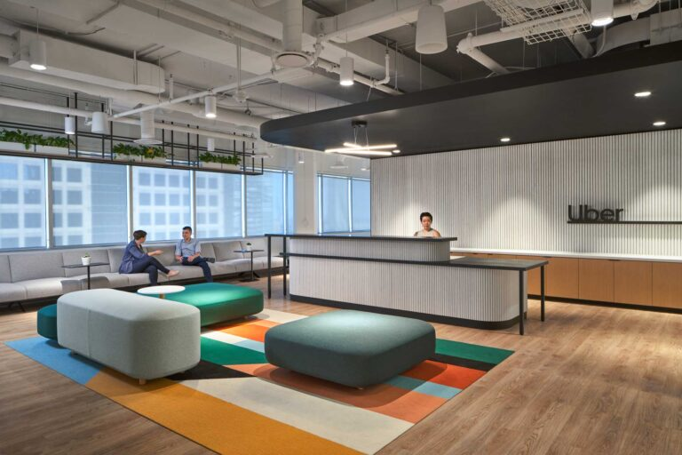 The reception area at Uber